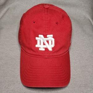 Red Notre Dame Adidas Quarterback Hat (OSFA)